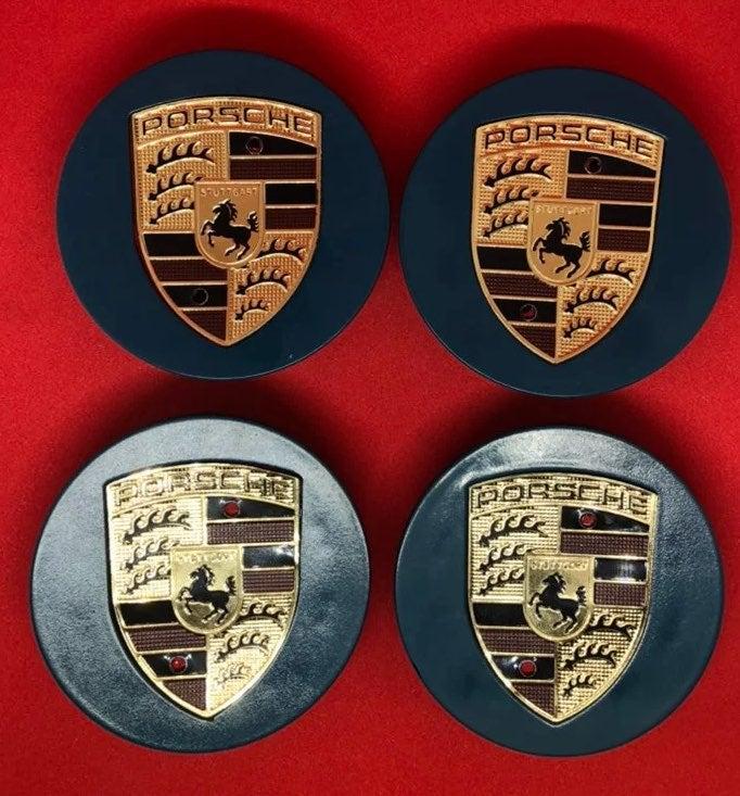 4 center cap  Porsche 76 mm new blue