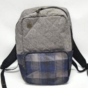 Focused Space Gray & Blue Plaid Backpack