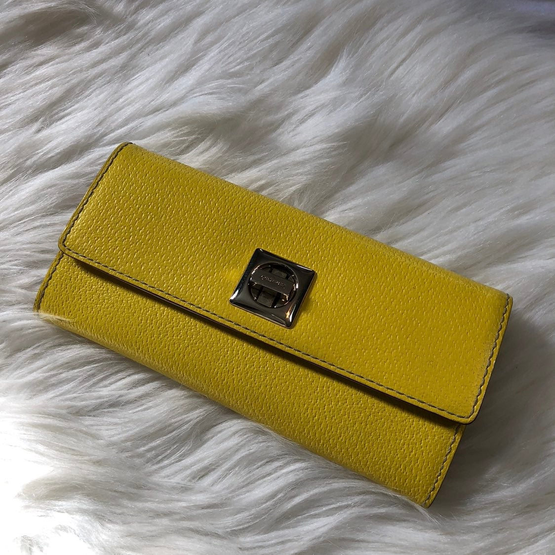 Kate Spade Yellow W/Front Clasp Wallet