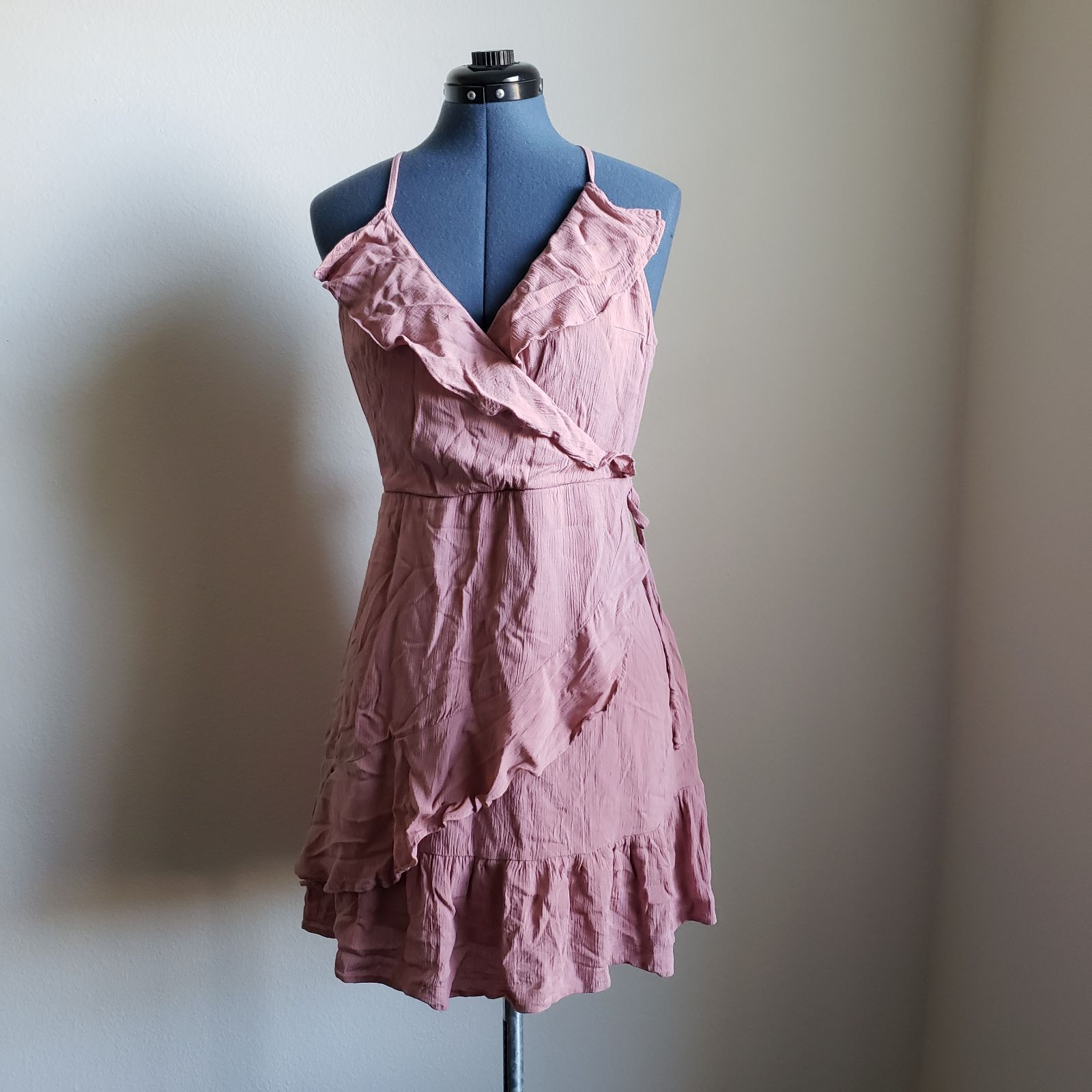 Faux Wrap Summer Dress, Rose Frills