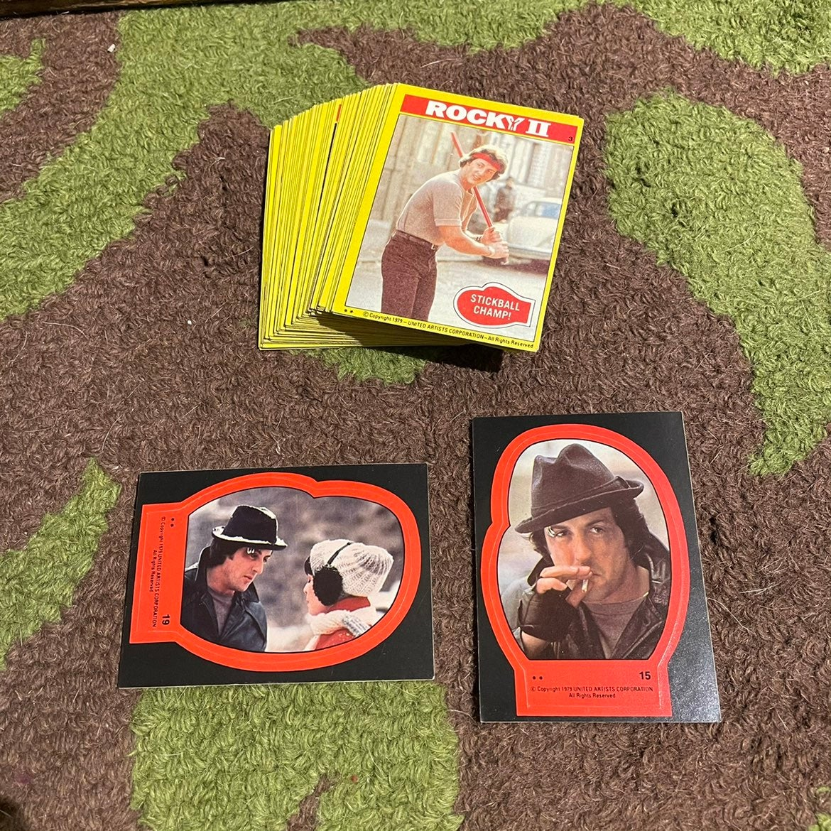 ROCKY II 2 movie 1979 Trading Card Lot