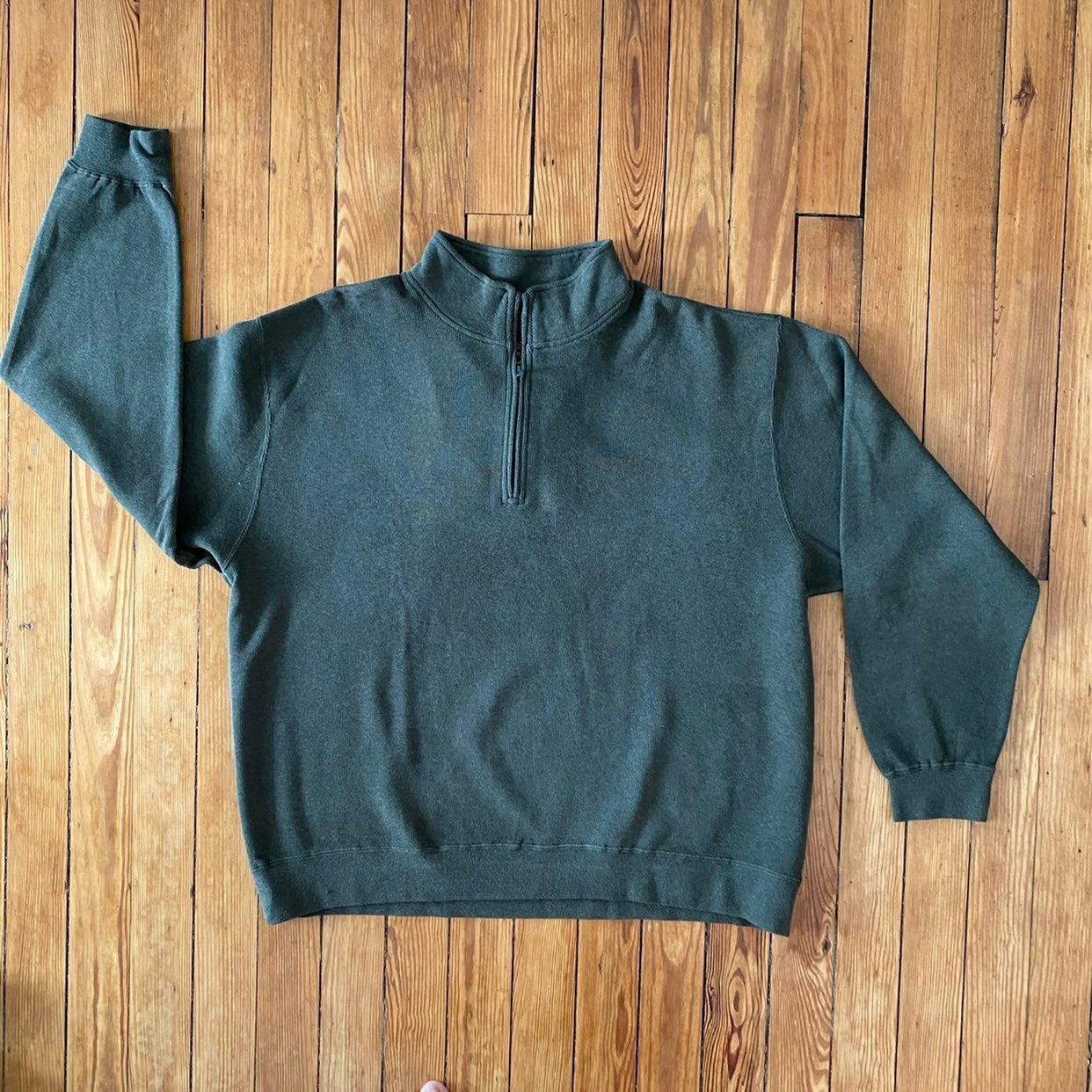 Orvis Green 1/4 Zip Pullover Sweater XXL