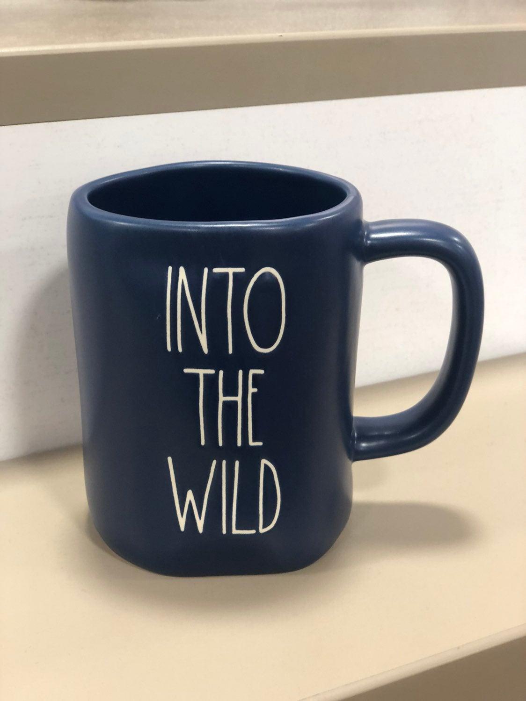 Rae Dunn Blue Into the Wild Mug
