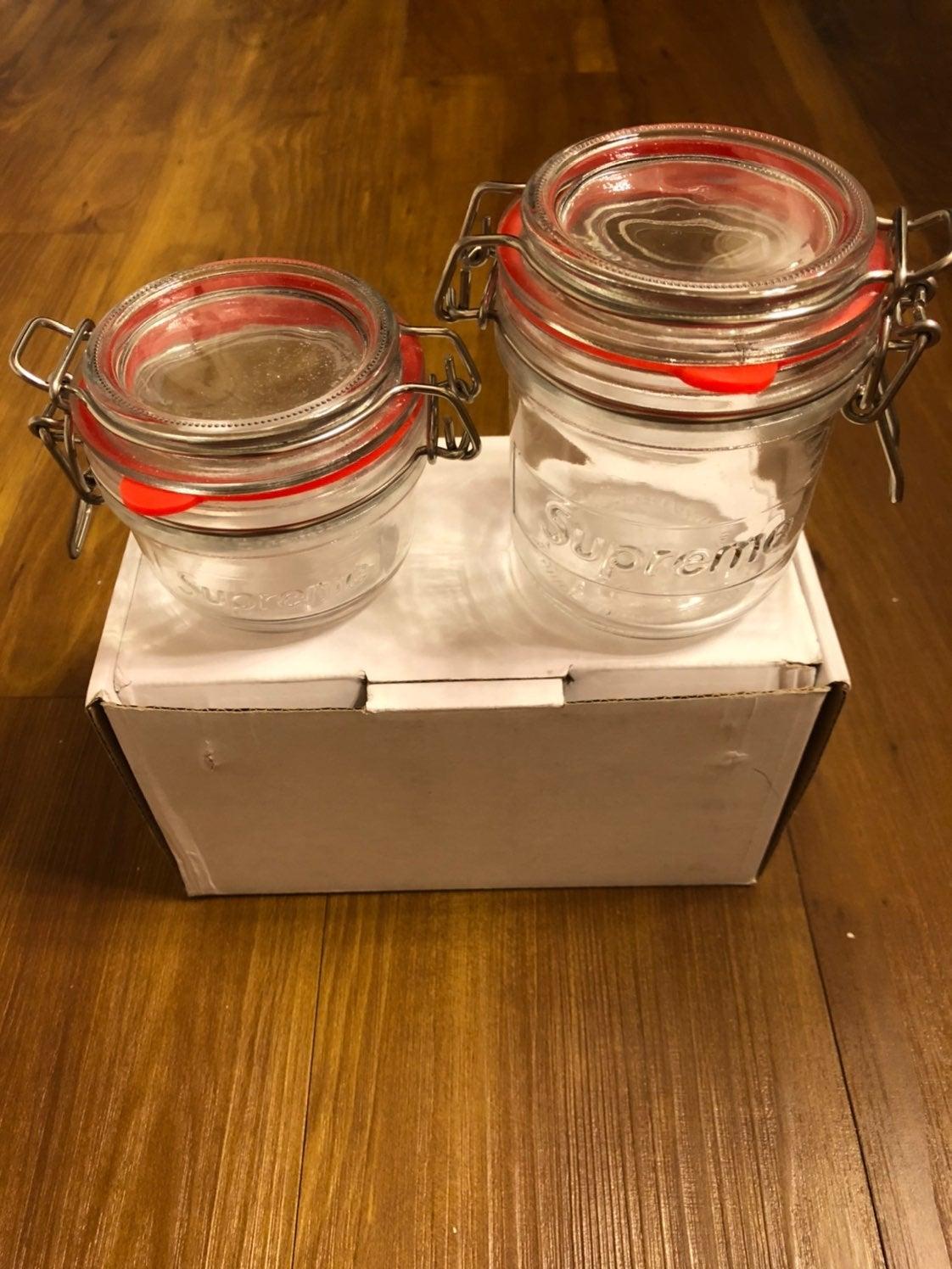 Supreme glass Jars set of 2