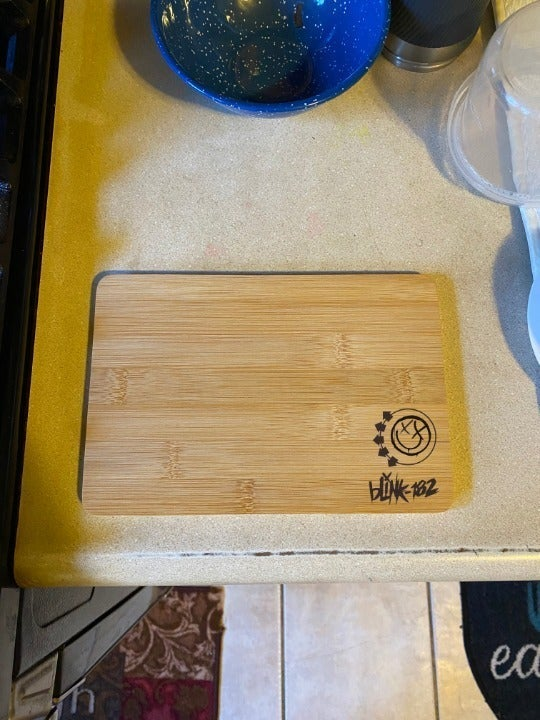 Blink 182 Engraved Cutting Board