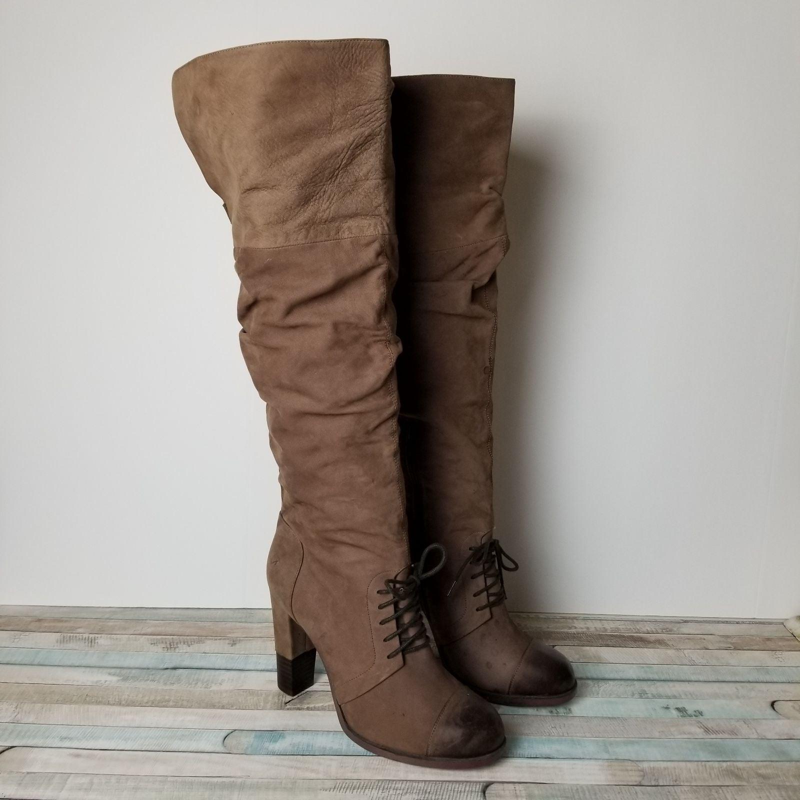 Bronx Charley Leather Knee High Boots 8