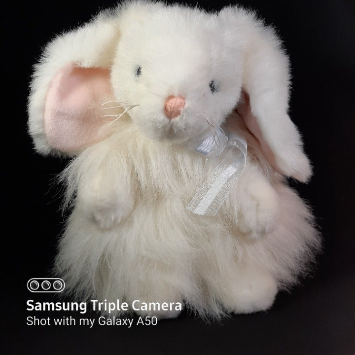 TY Cashmere White Long Hair Bunny Rabbit