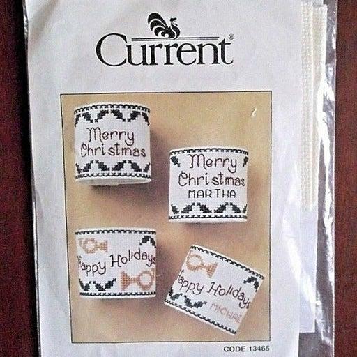 Christmas Napkin Rings Cross Stitch Kit