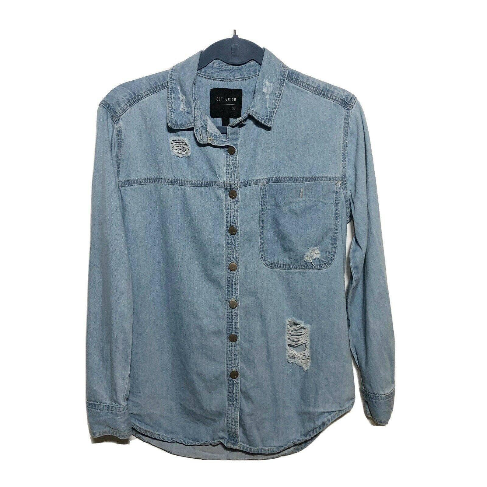 Cotton On Chambray Denim Shirt Small