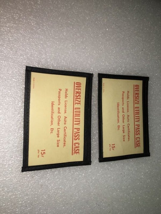 Vintage Lot of 2 Over-sized Utility Pass