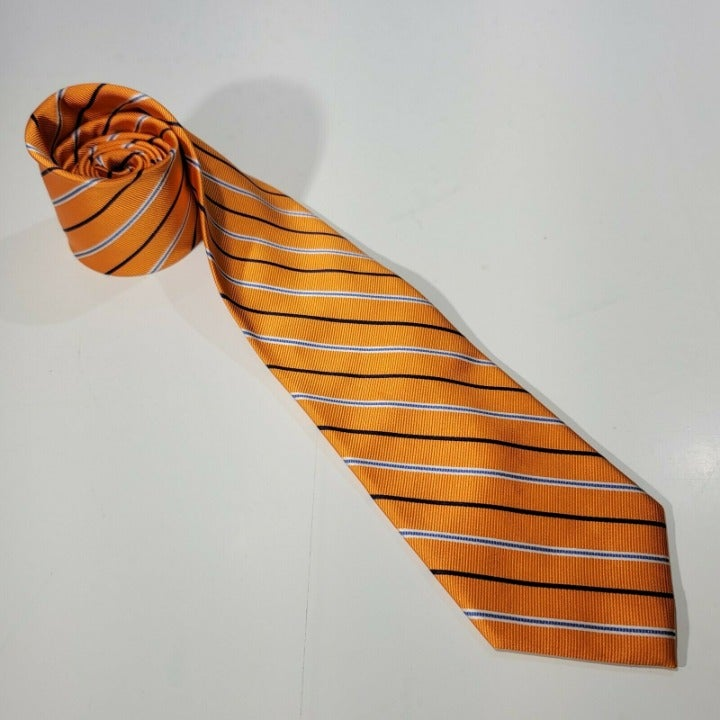 Roundtree & Yorke Orange Neck tie w/ Blu