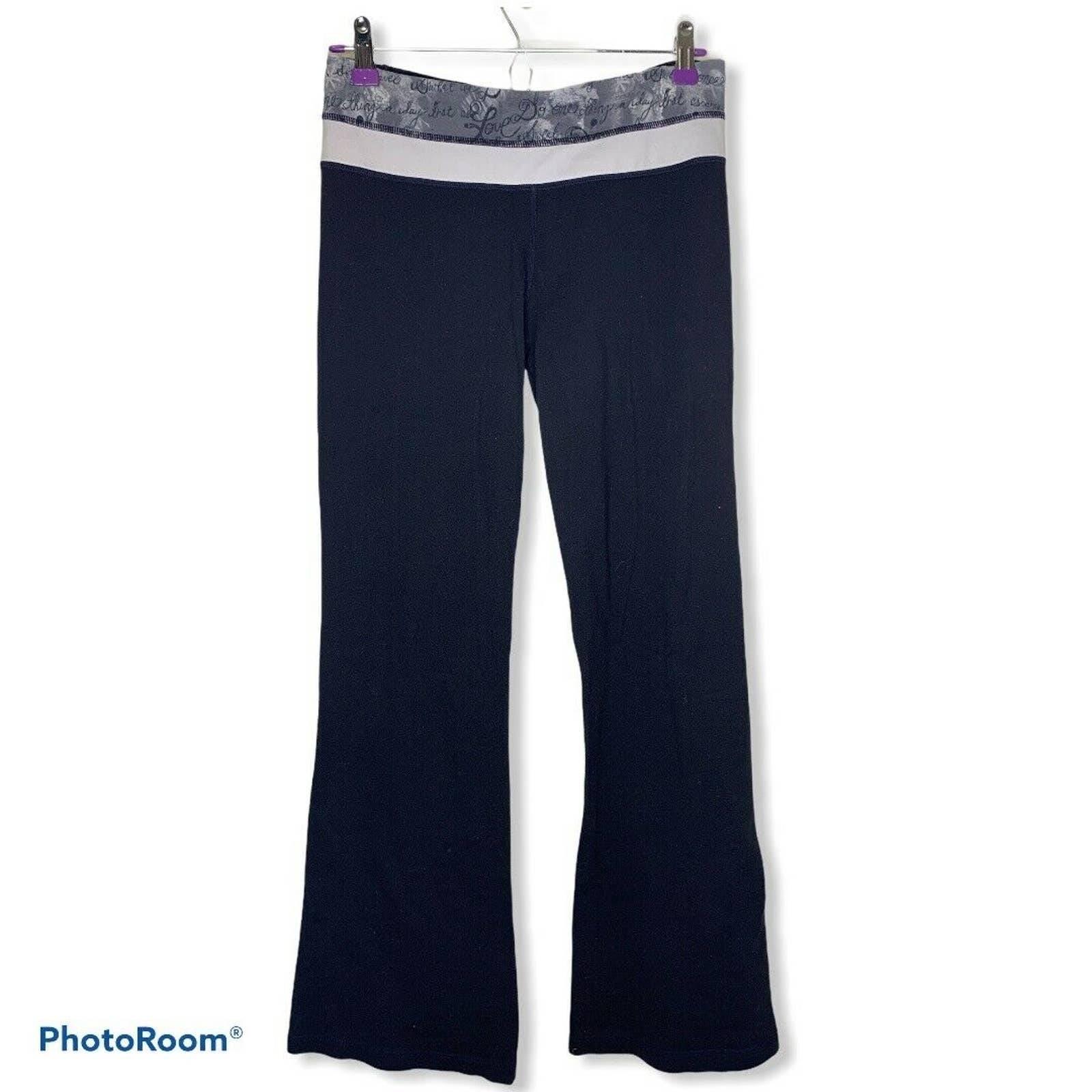 Lululemon black flare pant leggings 6