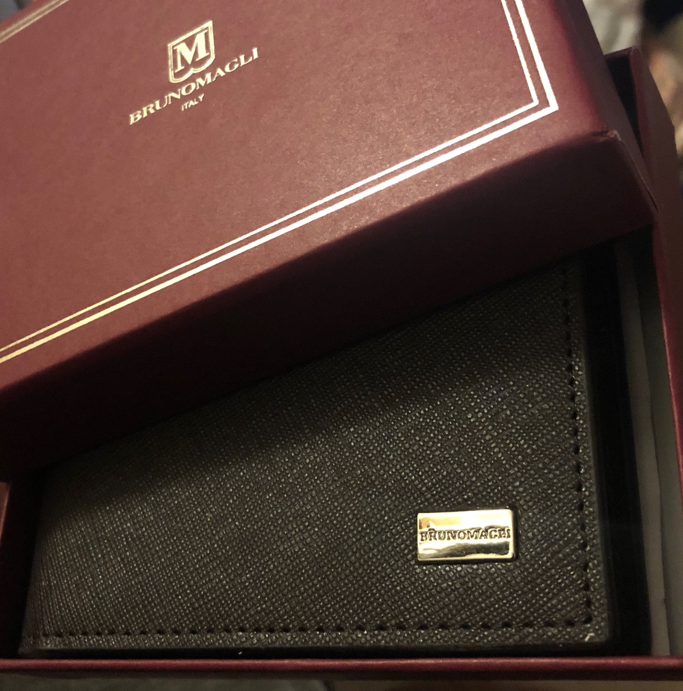 NEW BRUNOMAGLI ITALY MEN LEATHER WALLET