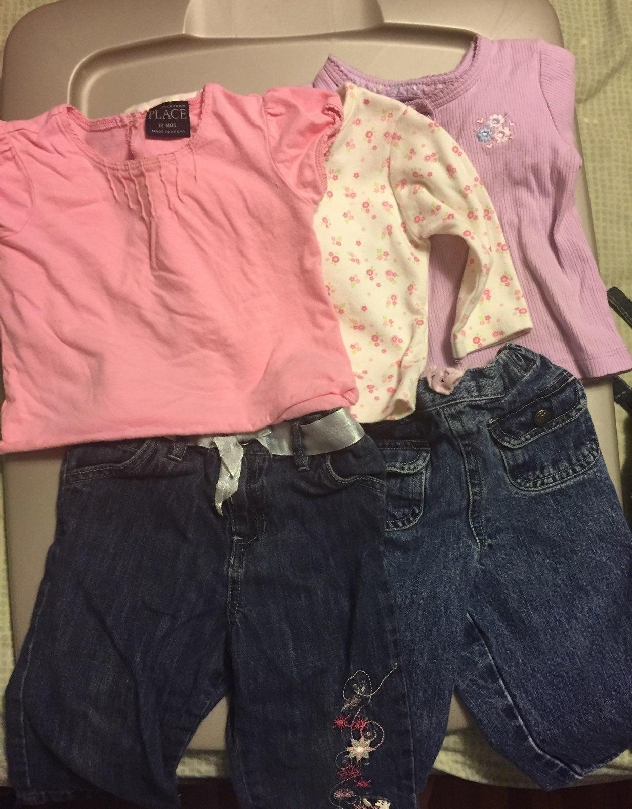 Girls 12 months - 5 pieces
