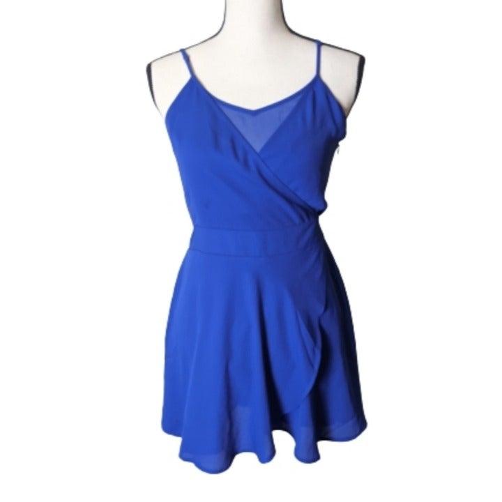 Express Cobalt Blue Wrap Romper  Size 2