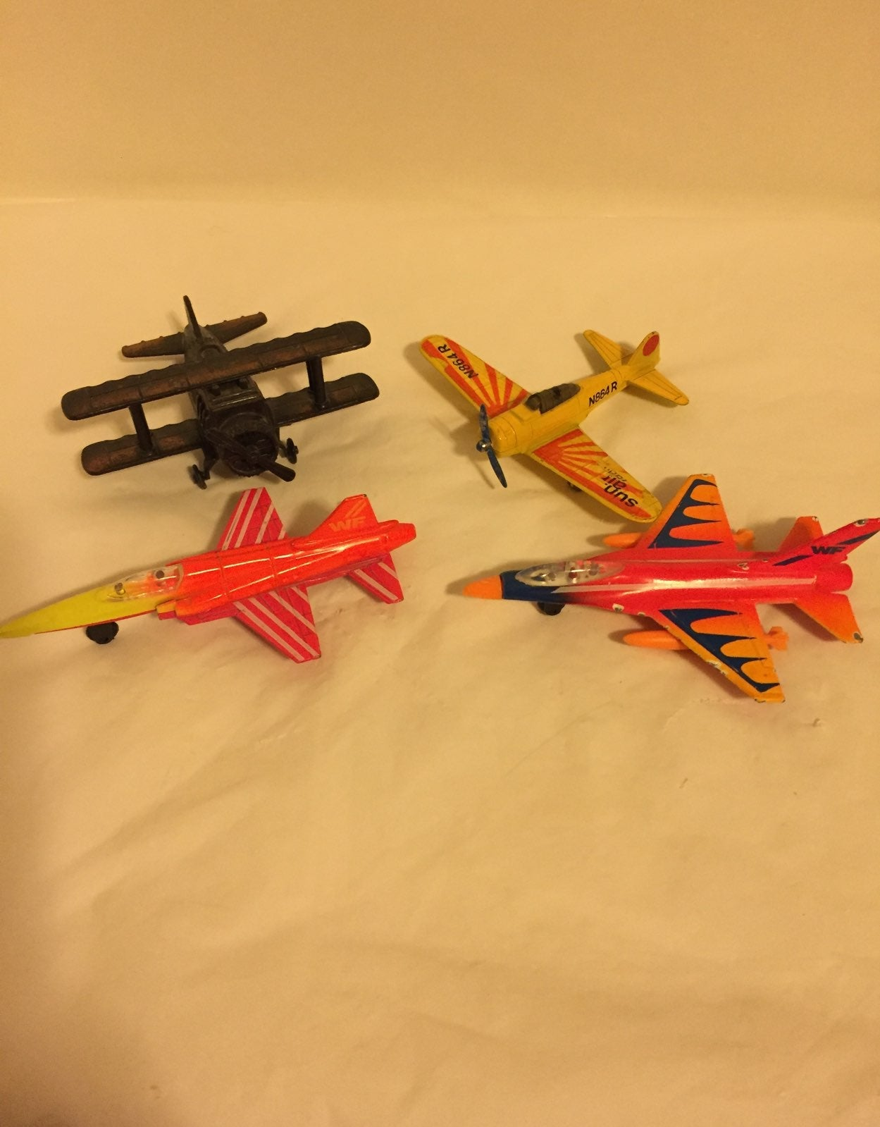 Fleet of Diecast Airplanes