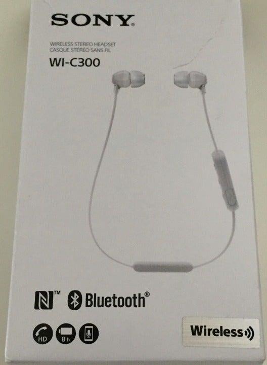 Sony WI-C300 Wireless NFC Bluetooth Whit