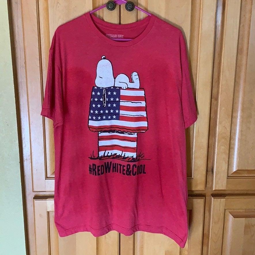 Snoopy #REDWHITE&COOL Tee Shirt