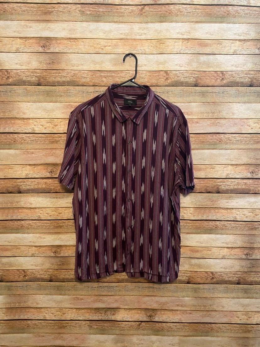 Vince Slim Fit Ikat Cabana Camp Shirt XL
