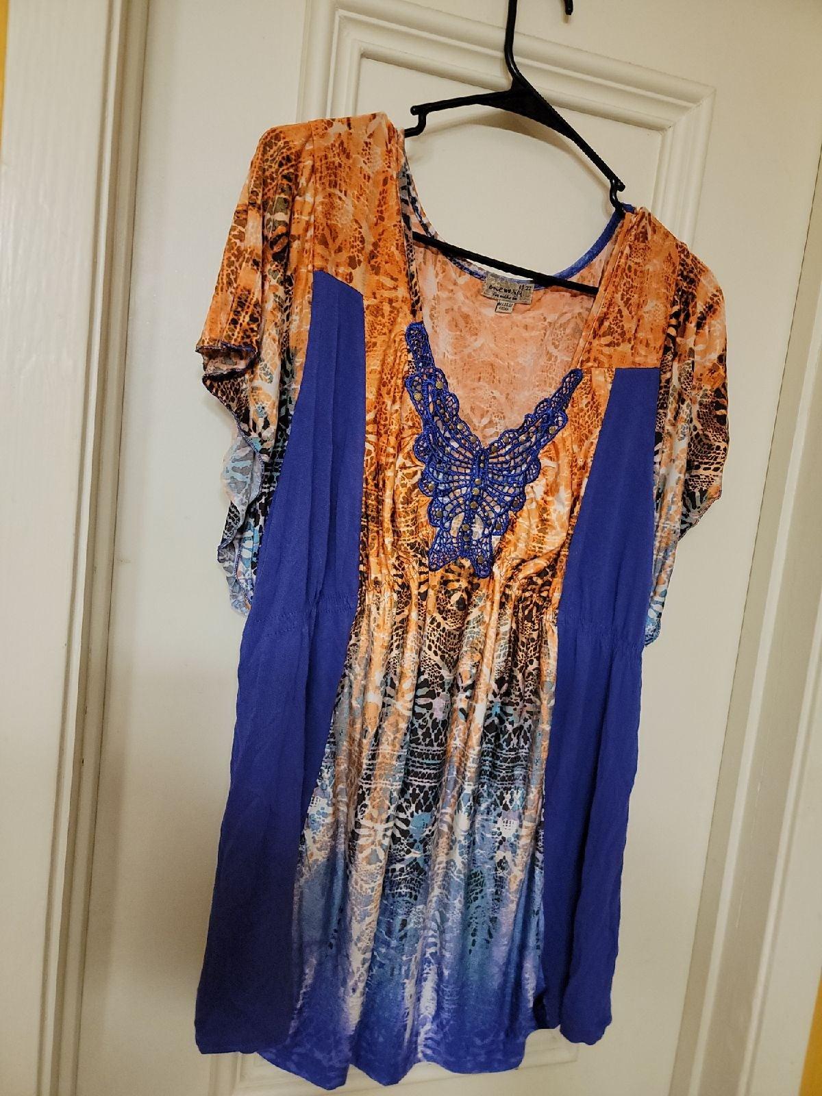 One World Multicolor Dress Shirt