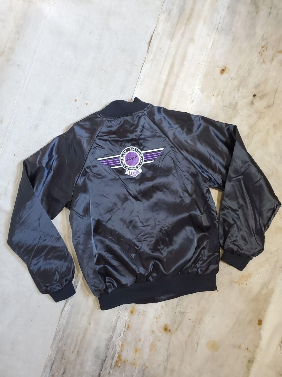 Vintage Harley Davidson Satin Jacket