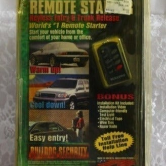 BULLDOG SECURITY Remote Car Start RS102
