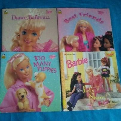 Vintage Barbie Golden Books Lot of 4