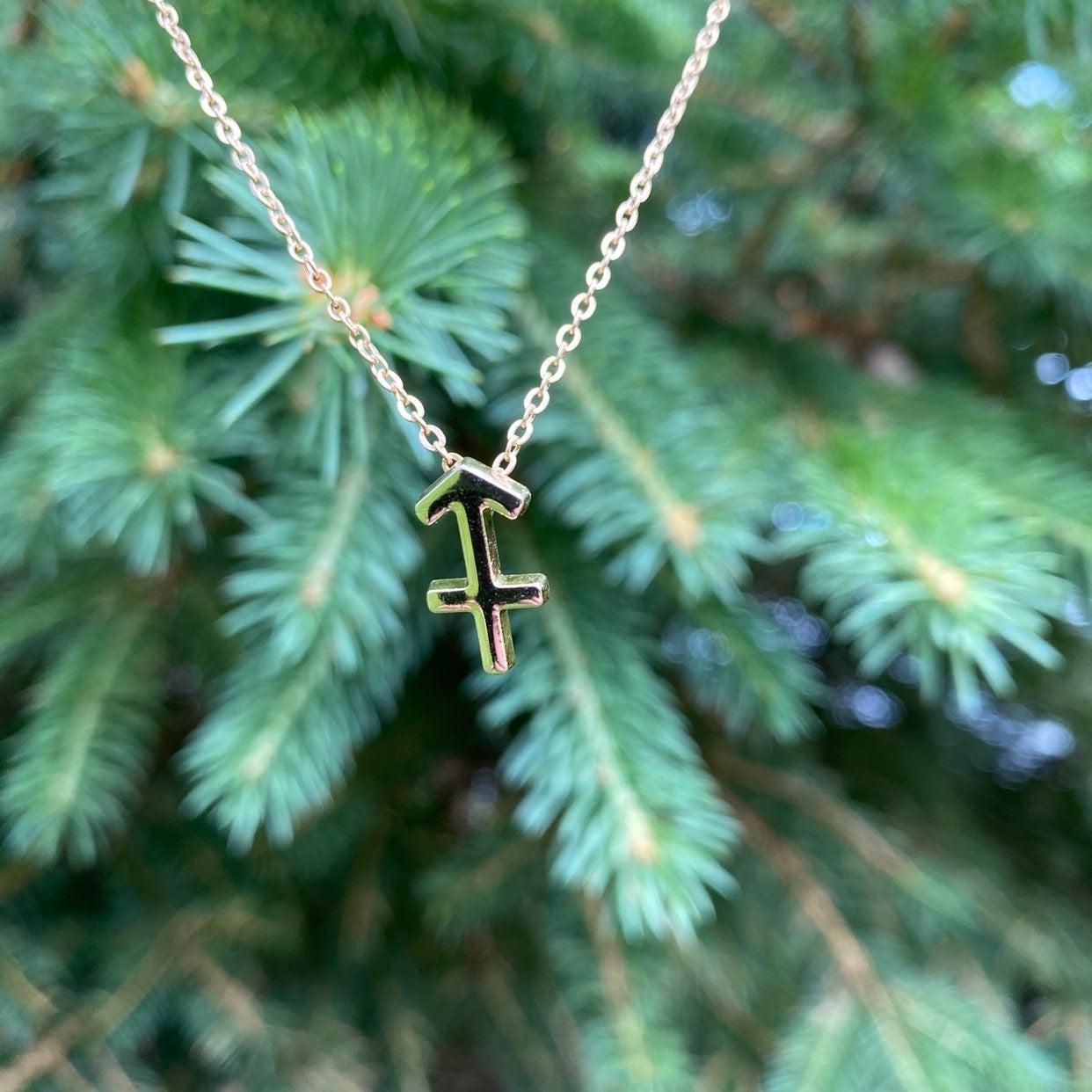 Sagittarius Necklace - Gold - Astrology