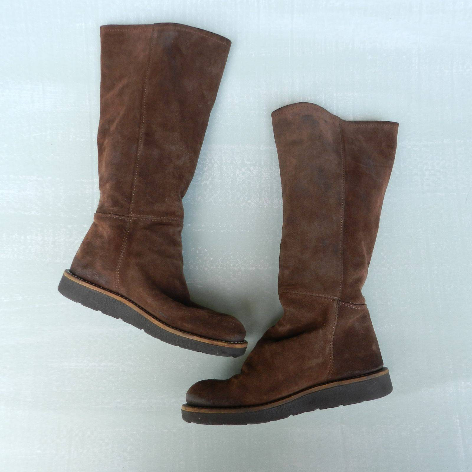 Bronx Sz 38 Brown Suede Tall Boots