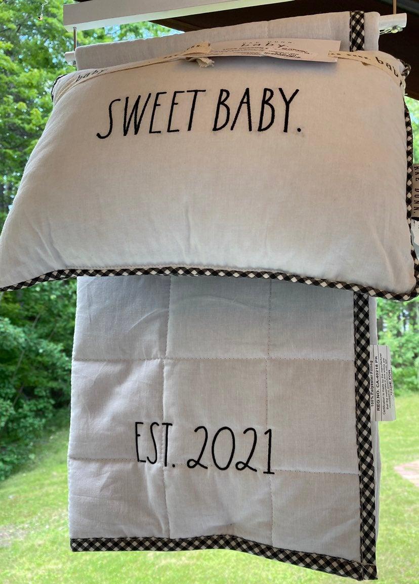 SWEET Baby Est 2021 Quilt Set
