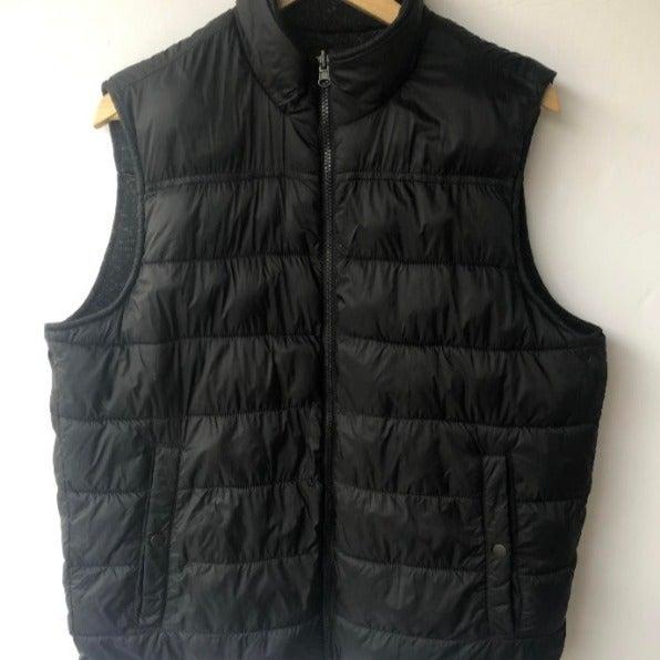 BASS Men's Sleeveless Black Puffer Vest