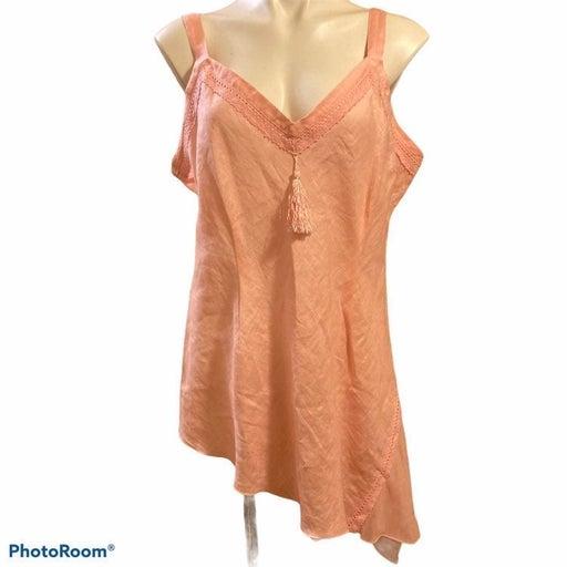 Soft surroundings linen/silk camisole