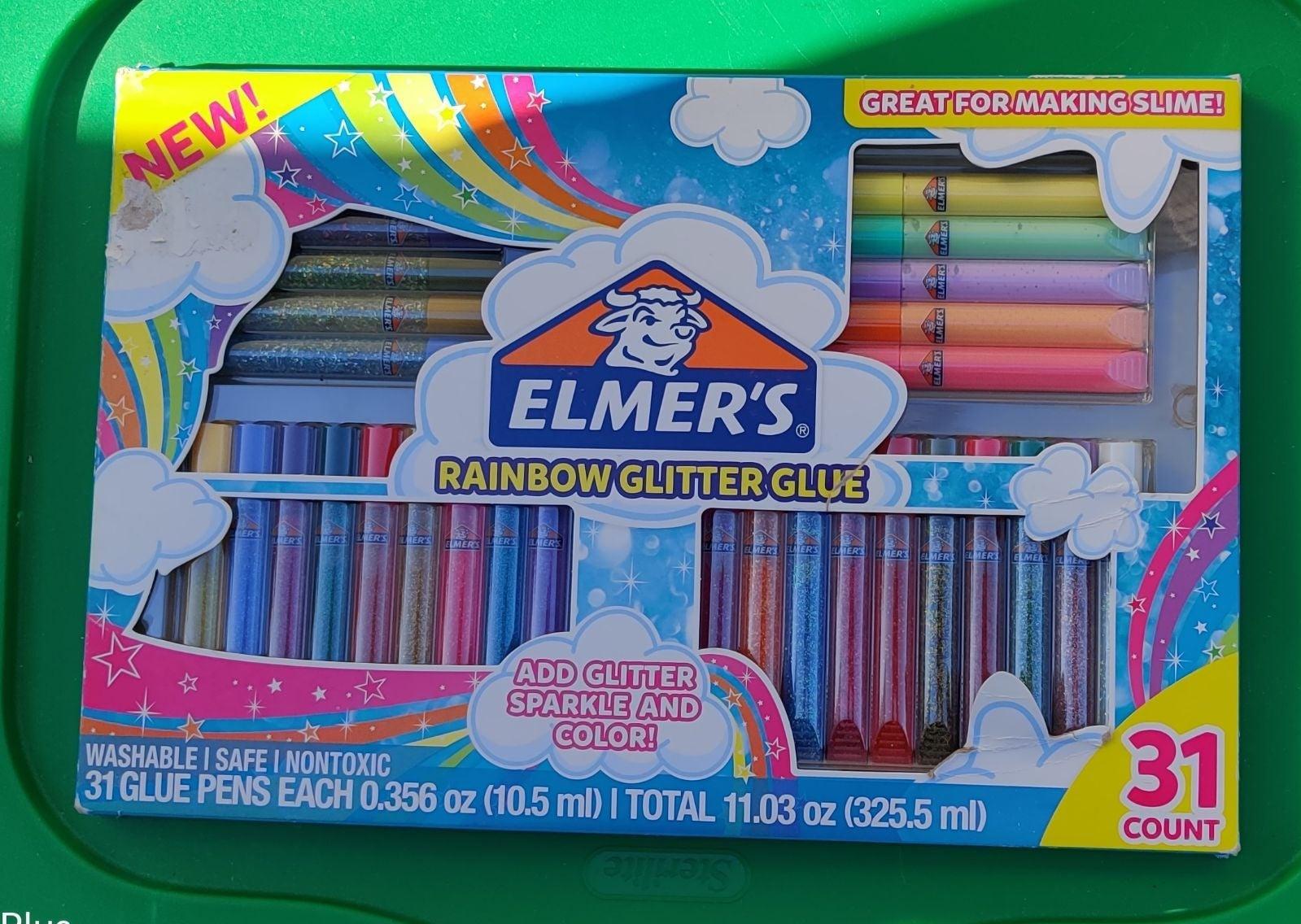 Elmer's Rainbow Glitter Glue 31 count