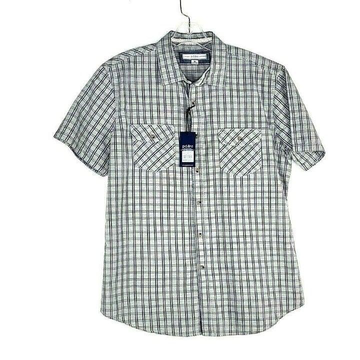 pd&c Button Front Shirt Men's Size Mediu
