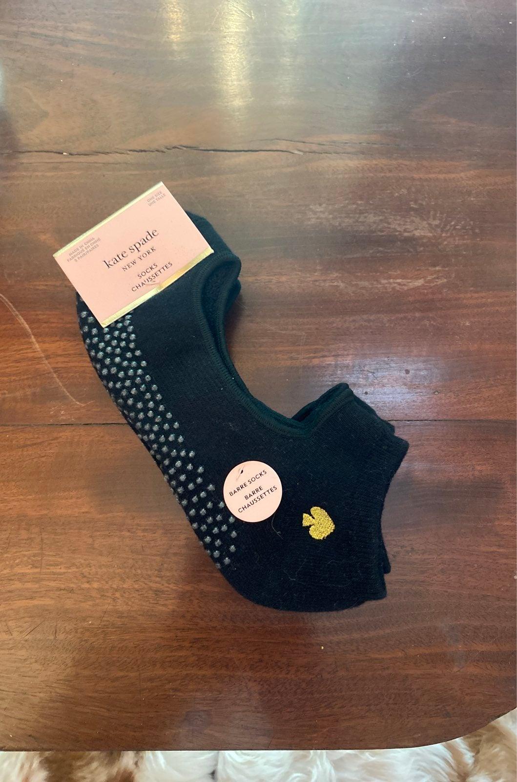 Kate Spade New York Black No Show Socks