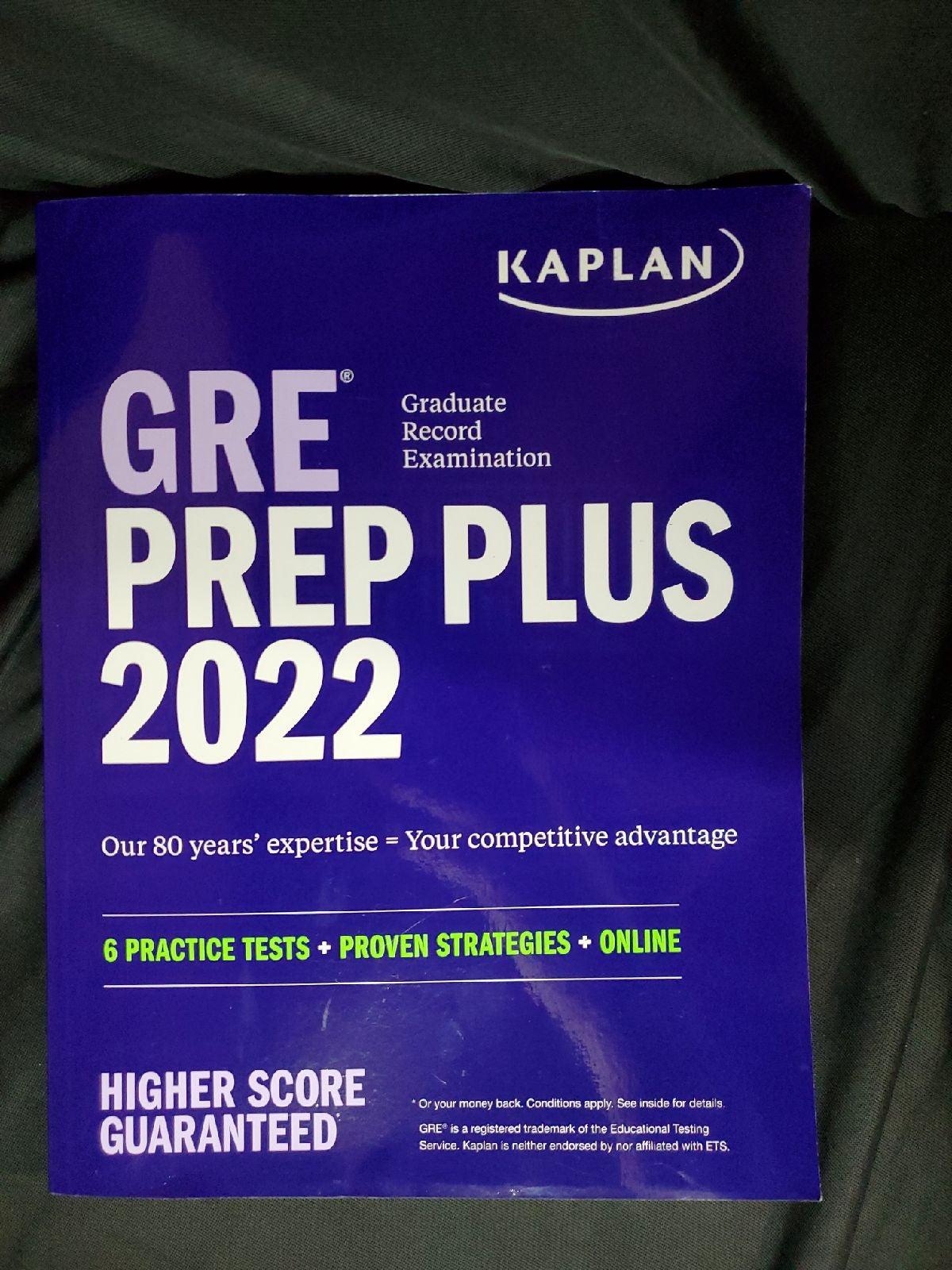 Kaplan GRE Prep Plus 2022 Higher Score