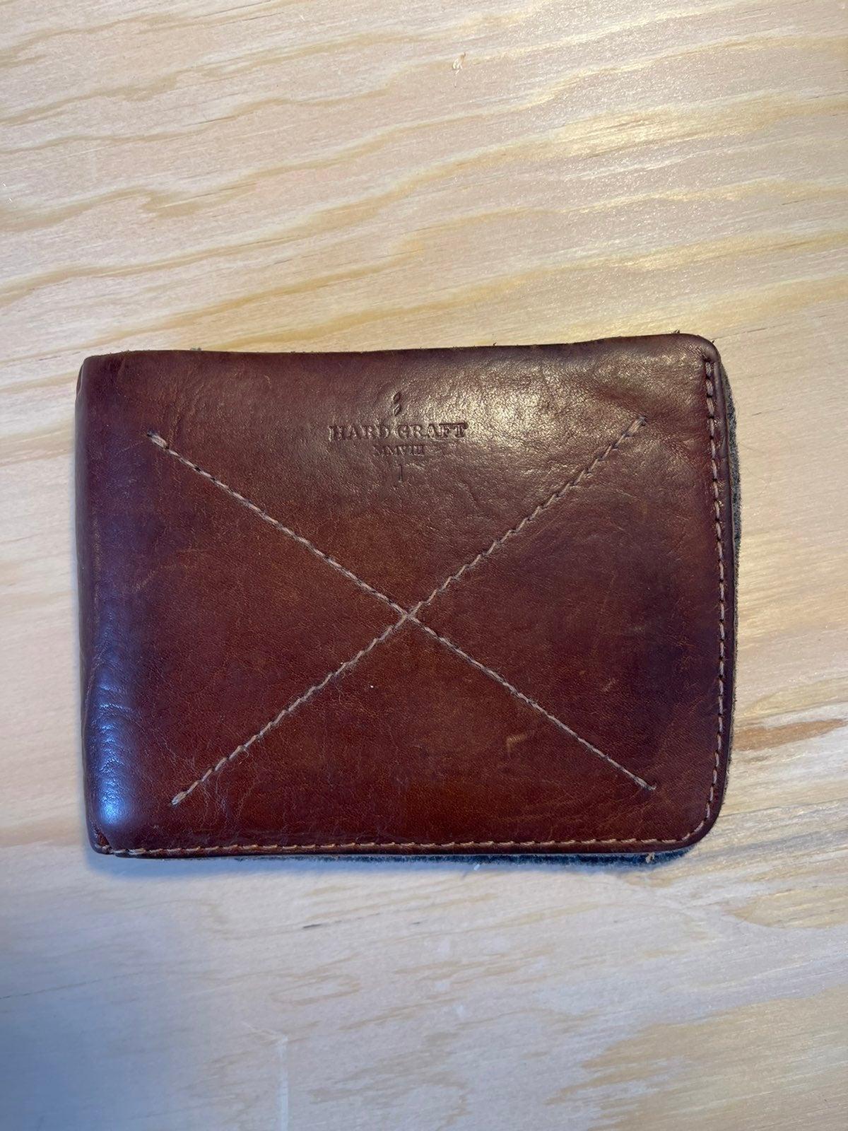 Hard Graft Leather Bi-Fold Wallet