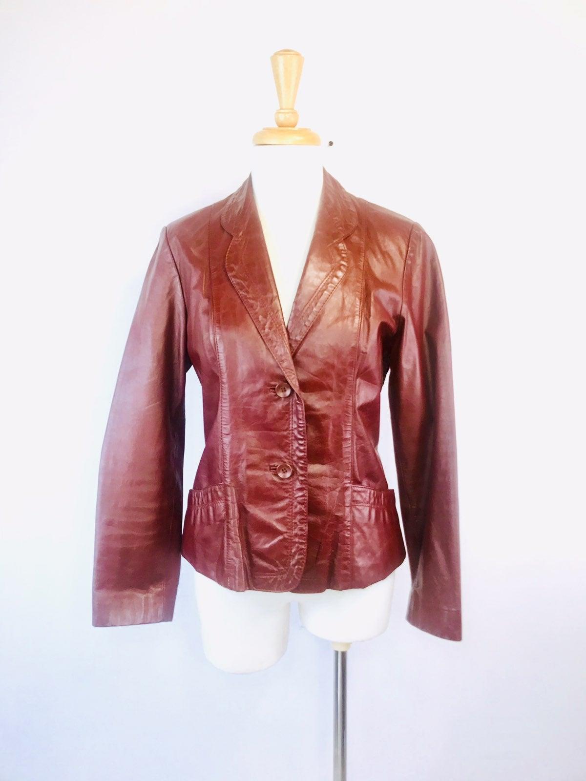 Vintage 1960s -1970s leather jacket 10