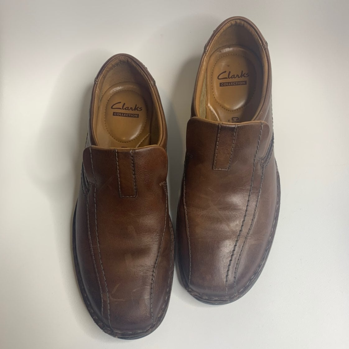 Clarks brown leather Escalade step shoes