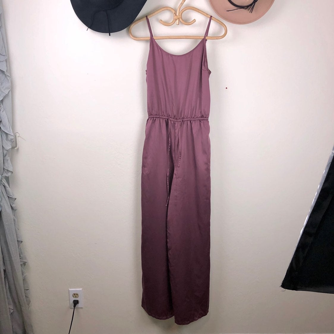 Gilly Hicks Satin Wide Leg Jumpsuit S