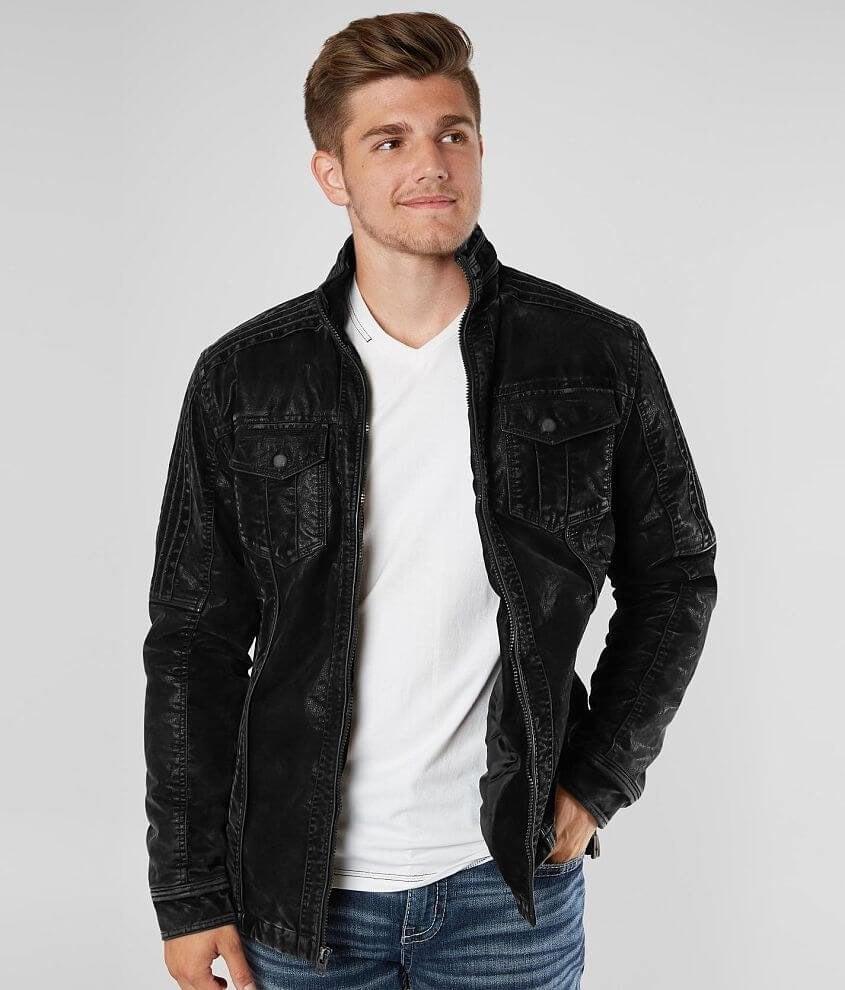Buckle Black Suede Jacket