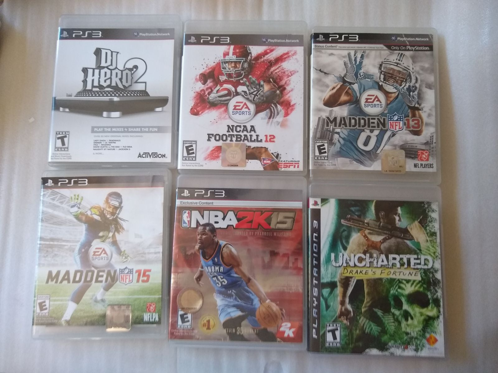 Lot of 6 PS3 Games NBA NCAA NBA DJ Hero