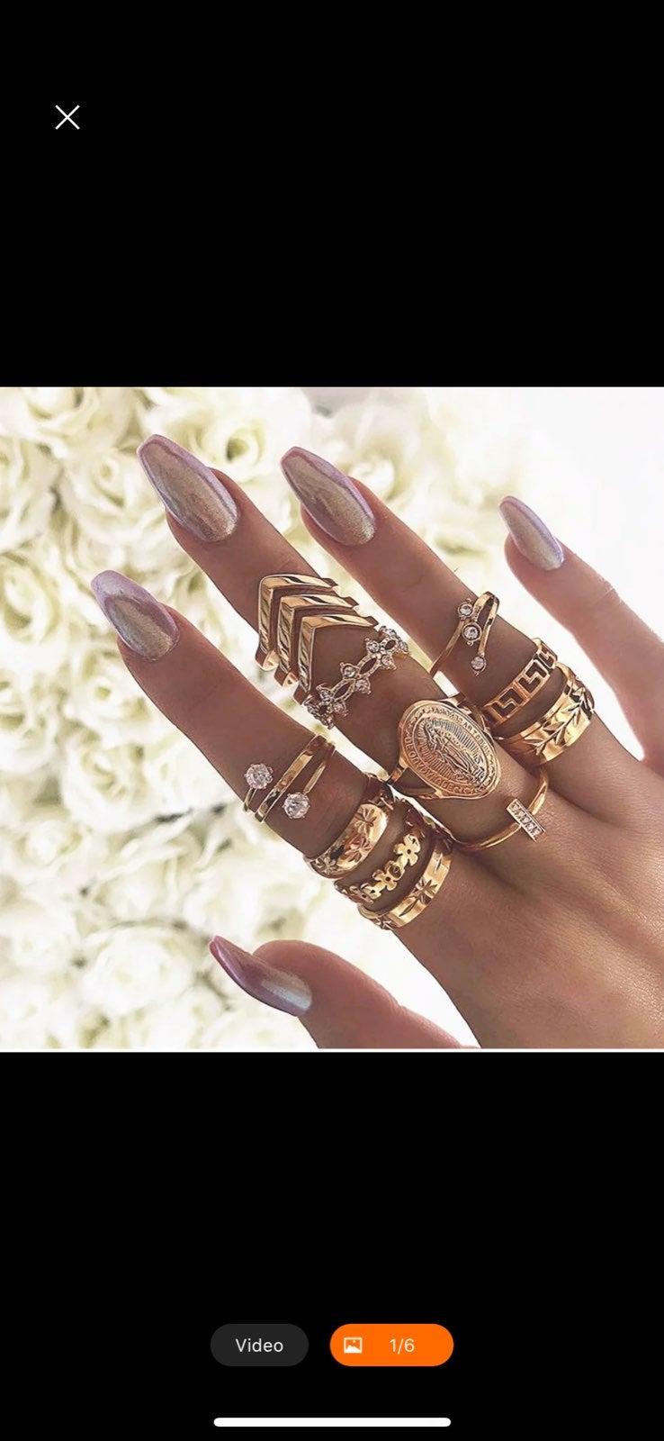 Fashion Buddha Wedding Ring Set
