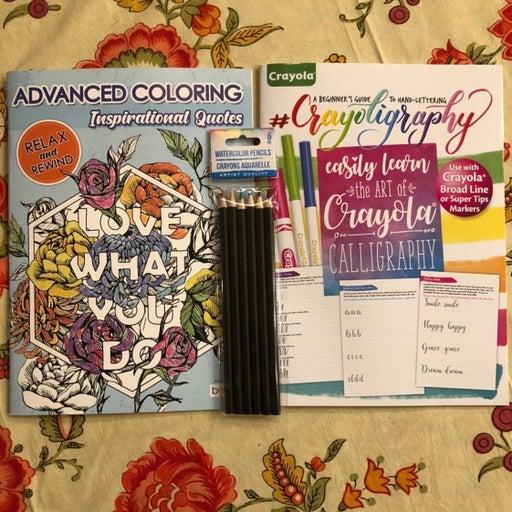 Advanced Coloring/Calligrapgy- Watercolo