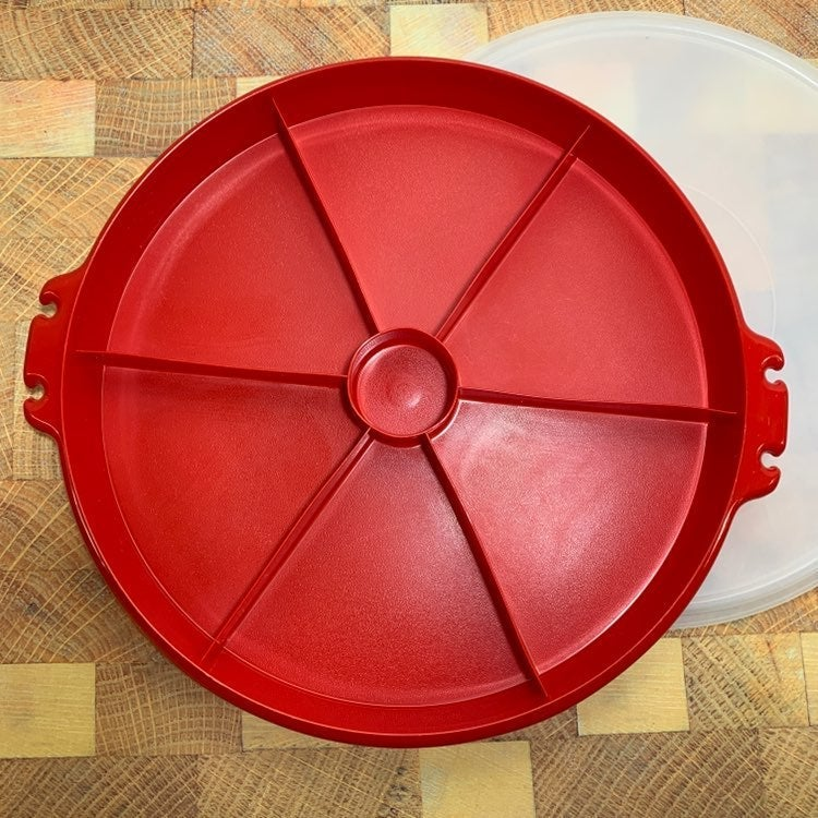 Vintage Tupperware Divided Tray & Lid Re