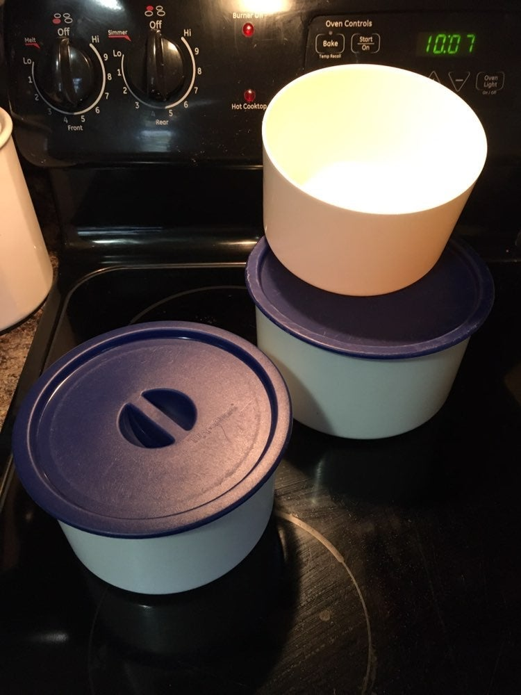 Vintage Tupperware One Touch Canisters