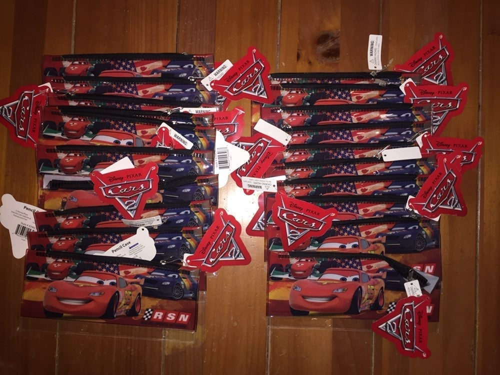 Disney Pixar Cars 20 Pencil Case Lot