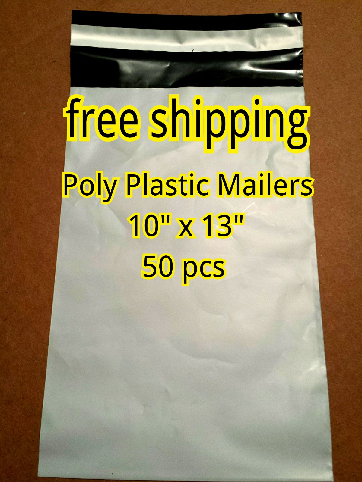 """50 NEW Bags 10""""x13"""" Poly Plastic Mailers"""