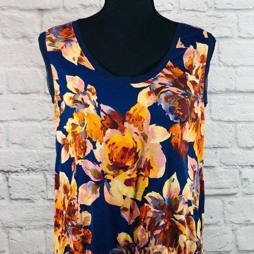 Simply Vera Sleeveless Flower Print Top