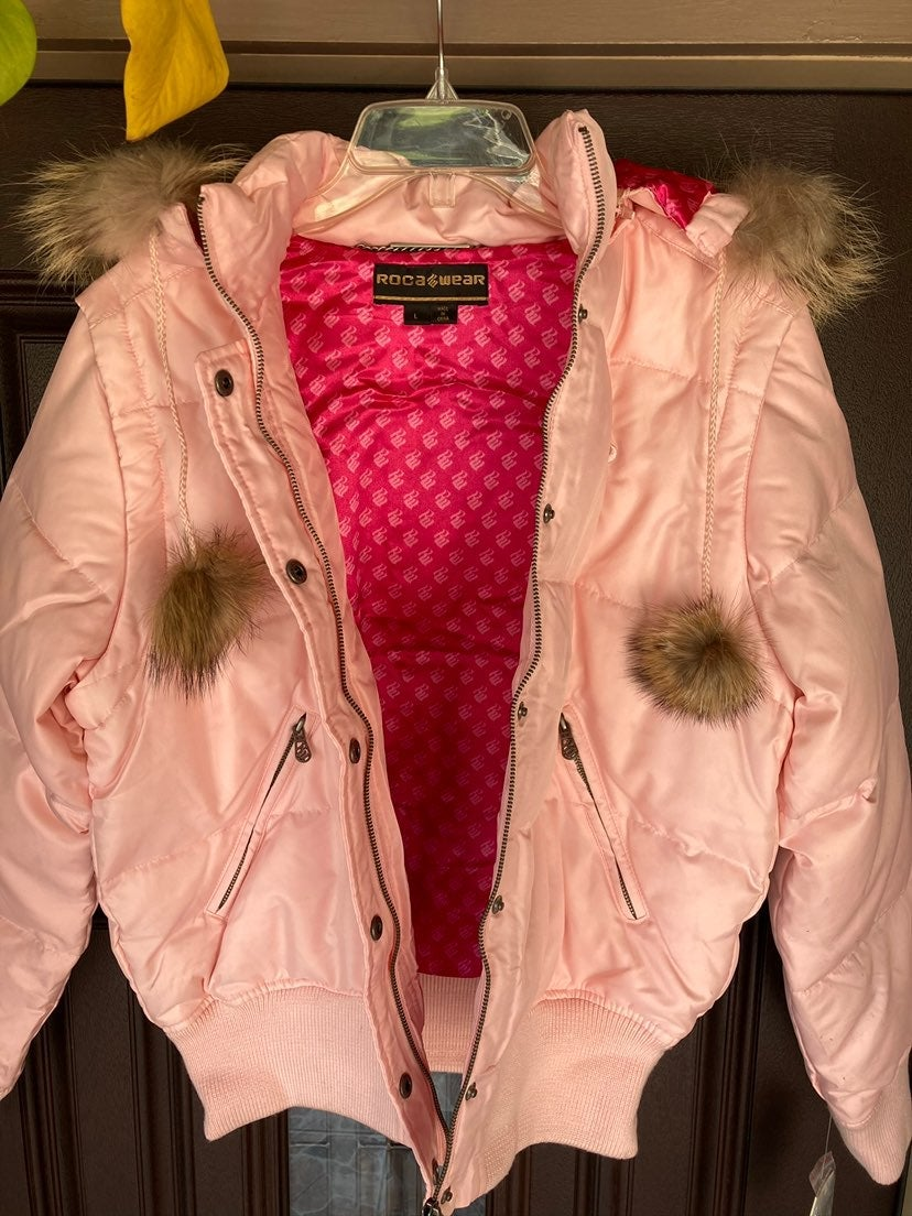 Rocawear Puffer Down Jacket With Faux Fu